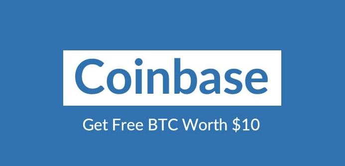 Coinbase - get $10 Free Bitocin