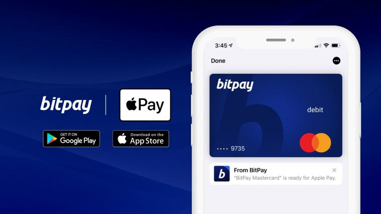 BitPay Gets Apple Pay support enabling using to Spend cryptocurrency via their Cards