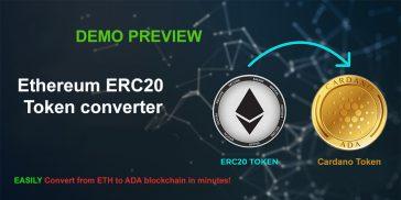 ERC20 Ethreum to Cardano protocol token converter DEMO