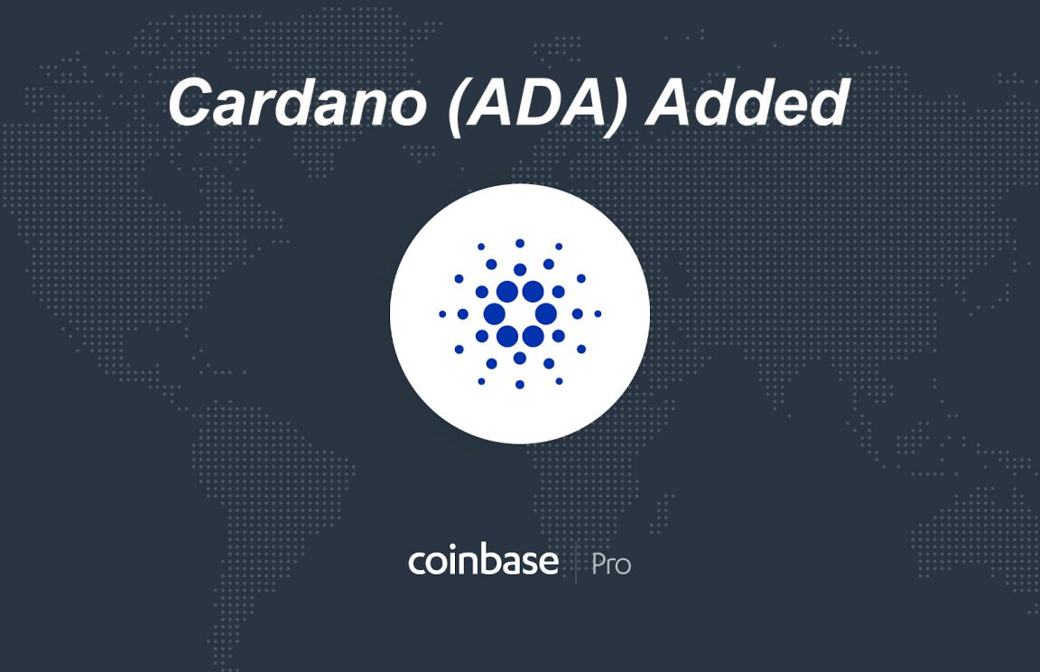 Cardano ADA added to coinbase Pro